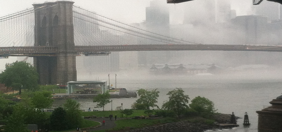 A foggy day in DUMBO, Brooklyn