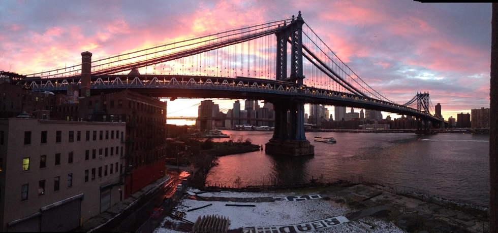 Sunset from DUMBO, Brooklyn